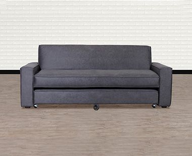 Sofá Cama Confort Clean Gris Carbón