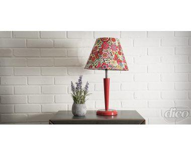 Lámpara de mesa Catania Rojo