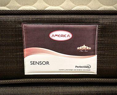 Colchón y Box America King Size Sensor Dico