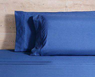 Juego de Sábanas 1800 Hilos King Size Premium Azul