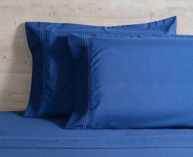 Juego de Sábanas 1800 Hilos Matrimonial Premium Azul