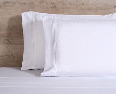 Juego de Sábanas 1800 Hilos Matrimonial Premium Blanco