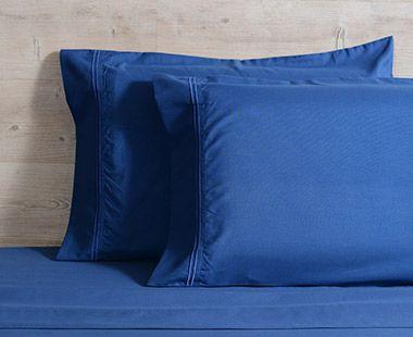 Juego de Sábanas 1800 Hilos Queen Size Premium Azul