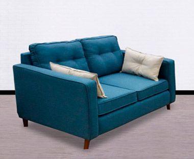 Love Seat Roxette Azul Terciopelo