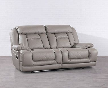Love Seat con Dos Reclinables Florence Gris
