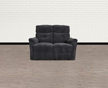 Love Seat Reclinable Trey Gris Chenille