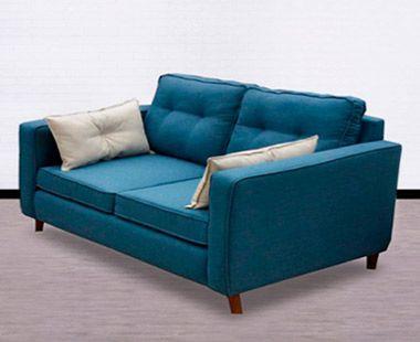 Sofá Roxette Azul Terciopelo